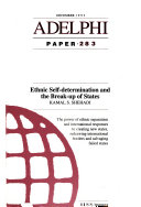 Ethnic Self-determination and the Break-up of States