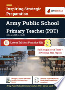 Army Public School Prt Exam 2021 8 Full Length Mock Tests Solved 3 Previous Year Paper Complete Preparation Kit For Army Public School Awes Primary Teacher 2021 Edition