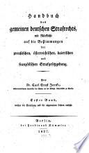 Handbuch des gemeinen deutschen Strafrechts