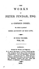 Book The Works of Peter Pindar, Esq. with a Copius Index