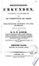Mecklenburgische Urkunden: Bd. Urkunden des klosters Dargun