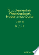 Supplementair Woordenboek Nederlands Duits  n z