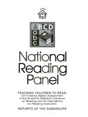 Report of the National Reading Panel   teaching children to read   an evidence based assessment of the scientific research literature on reading and its implications for reading instruction   reports of the subgroups