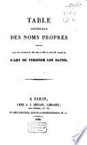 L'art de vérifier les dates depuis l'année 1770 jusqu'à nos jours, formant la continuation, ou troisième partie de l'ouvrage publié, sous ce nom