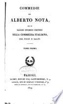 Commedie  con un Saggio storico critico della commedia italiana del F  Salfi