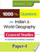 1000 Plus Questions On Indian World Geography General Studies