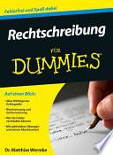 Rechtschreibung f  r Dummies
