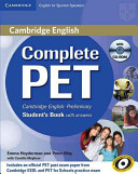 Complete PET for Spanish Speakers Student s Book with Answers with CD ROM