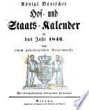 Kongelig Dansk Hof-og Stats-Calender