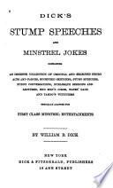 Dick s Stump Speeches and Minstrel Jokes