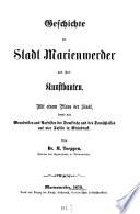 Geschichte der Stadt Marienwerder und ihrer Kunstbauten