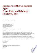 Pioneers of the Computer Age  from Charles Babbage to Steve Jobs