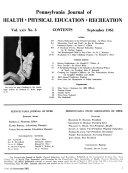 Pennsylvania Journal of Health, Physical Education, Recreation