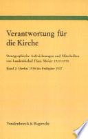 Verantwortung für die Kirche: Herbst 1935 bis Frühjahr 1937