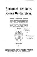 Almanach des kath. Klerus Oesterreichs