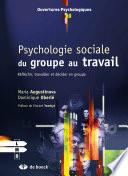 illustration Psychologie sociale du groupe au travail