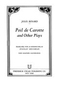 Poil de carotte  and other plays
