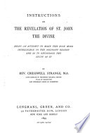 Instructions on the Revelation of St  John the Divine