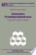 Autonomes Fremdsprachenlernen