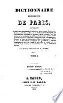 Dictionnaire historique de Paris,...