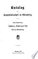 Katalog der Stadtbibliothek in Nürnberg
