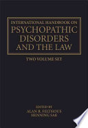 The International Handbook Of Psychopathic Disorders And The Law book