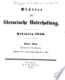Blätter für literarische Unterhaltung