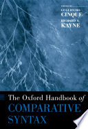 The Oxford Handbook of Comparative Syntax