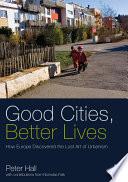 Good Cities  Better Lives