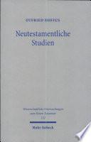 Neutestamentliche Studien