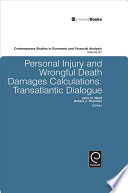 Personal Injury And Wrongful Death Damages Calculations book