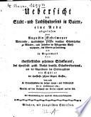 Übersicht des Stadt- und Landschulwesens in Baiern