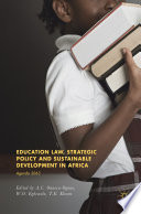 Education Law  Strategic Policy and Sustainable Development in Africa