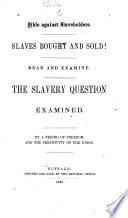 Bible against slaveholders