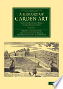 illustration du livre A History of Garden Art