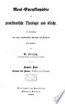 Real Encyklop  die f  r protestantische Theologie und Kirche