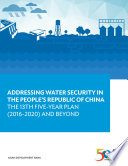 Addressing Water Security in the People   s Republic of China