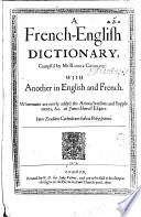 A French-English Dictionary, etc