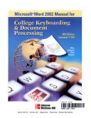 Gregg College Keyboarding & Document Processing (GDP), Student Manual, Word 2002
