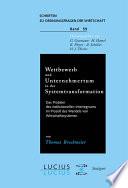 Wettbewerb und Unternehmertum in der Systemtransformation