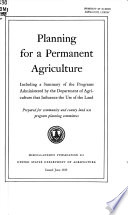 Planning for a permanent agriculture