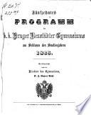 Programm des K.K. Prag-Neustädter Gymnasiums am Schlusse des Studienjahres ...