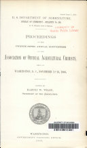 Proceedings of the Twenty fifth Annual Convention of the Association of Official Agricultural Chemists Held at Washington D C   November 12 16  1908