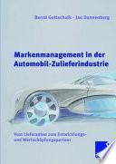 Markenmanagement in der Automobil-Zulieferindustrie