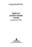 English as an Academic Language in Europe