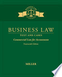 Business Law Text Cases Commercial Law For Accountants