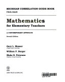 Mathematics for Elementary Teachers, Michigan State Guidelines Book