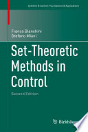 Set Theoretic Methods in Control