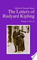 The Letters of Rudyard Kipling  1931 36