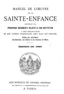 Manuel de l'Oeuvre de la Sainte-Enfance
